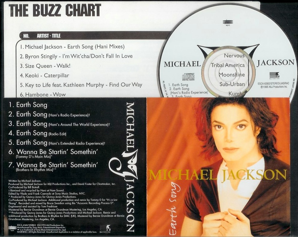 MJ - EARTH Song - Main CD Cover - DMC Buzz Chart